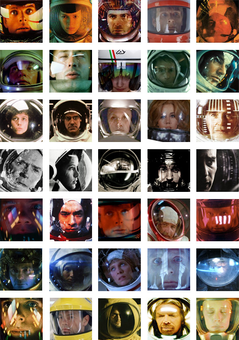 Thirty Five Images of Space Helmet Reflections by Eric Ulrich