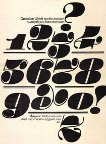 Stilla numerals by François Boltana c.1973